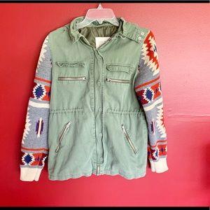 < Thread&Supply Aztec Utility Jacket >